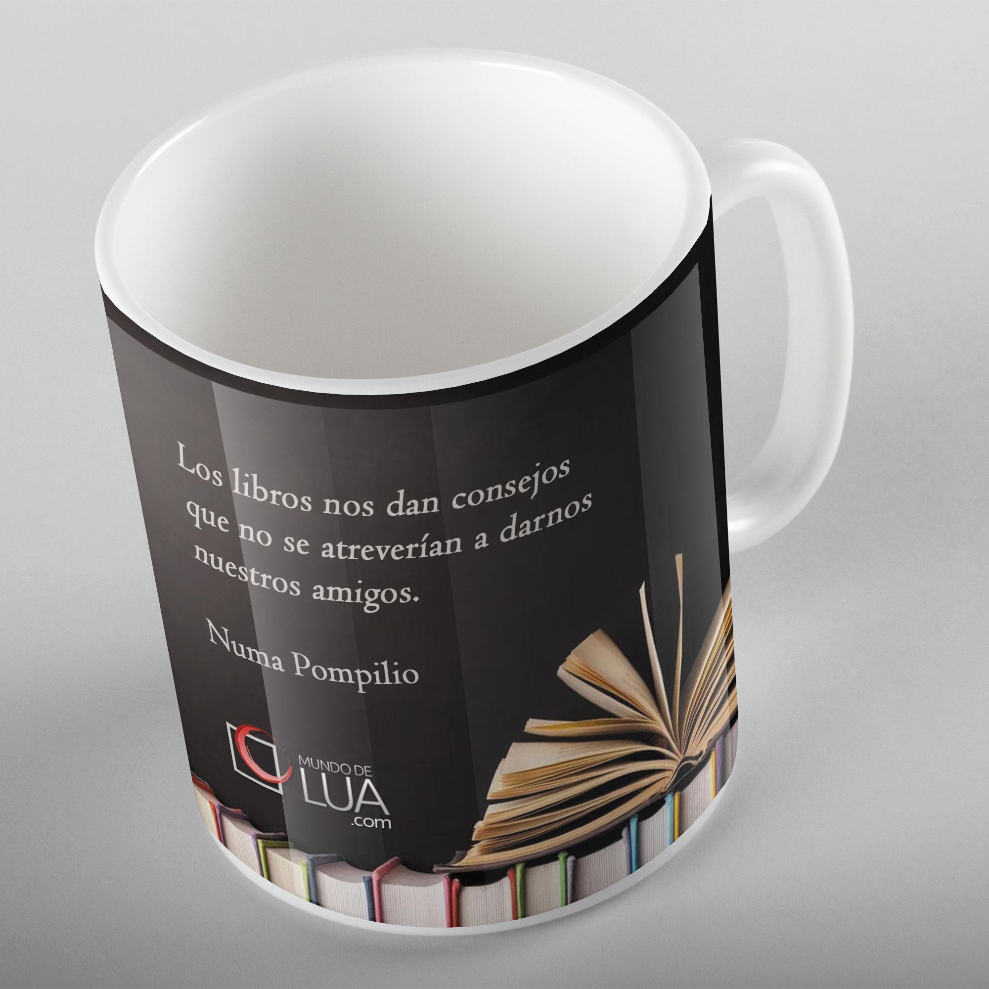 Taza Los libros nos dan consejos