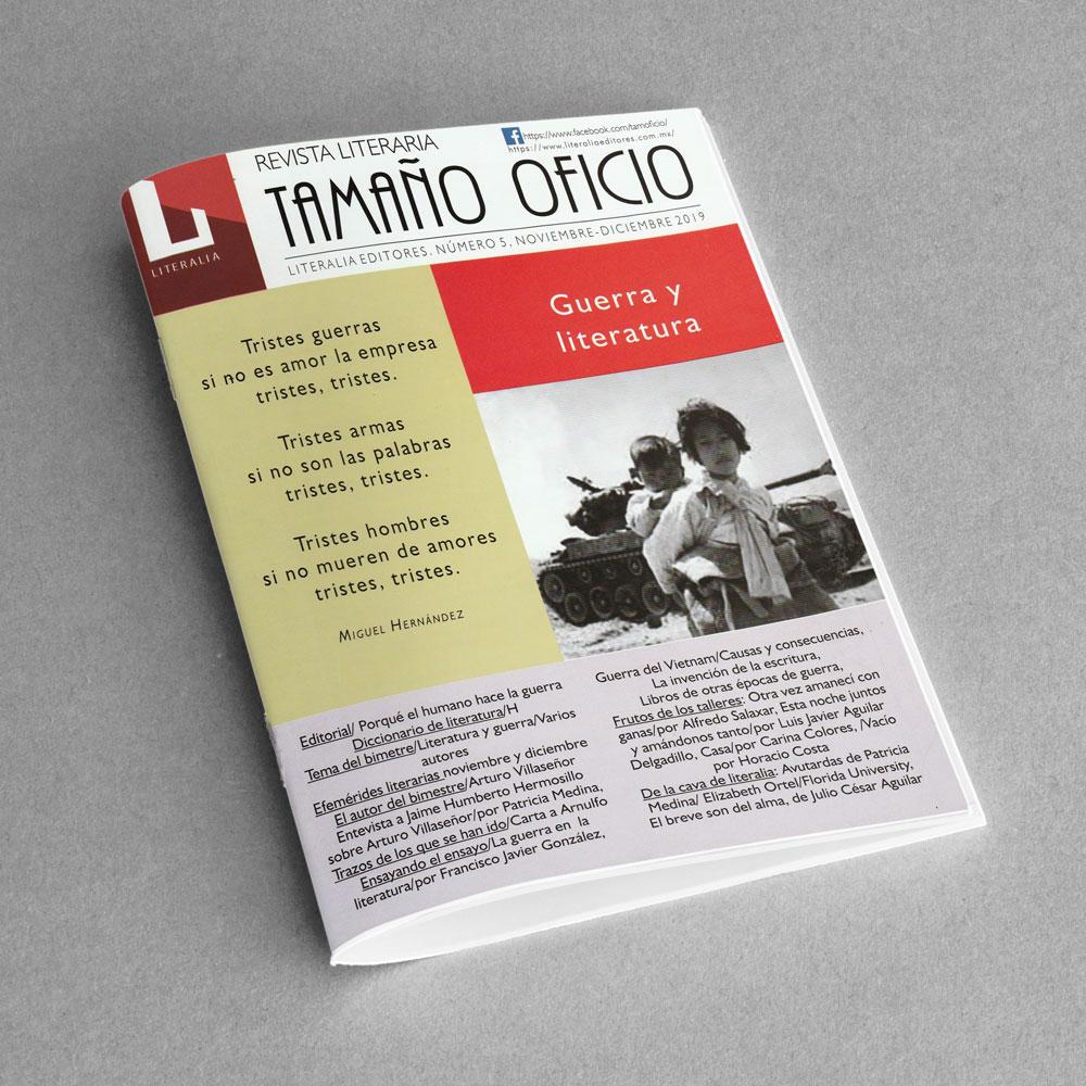 Revista Literaria Tamaño Oficio, Num. 5
